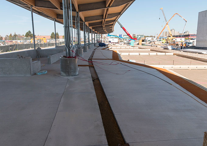A few of the nine bus bays – almost ready!